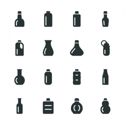 Bottles Silhouette Icons | Set 1