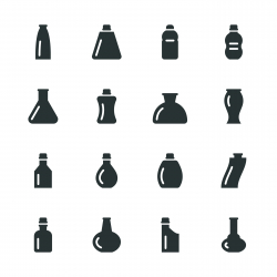 Bottles Silhouette Icons | Set 2