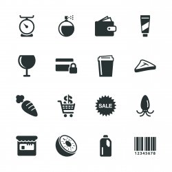 Supermarket Silhouette Icons | Set 2