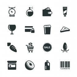 Supermarket Silhouette Icons | Set 2