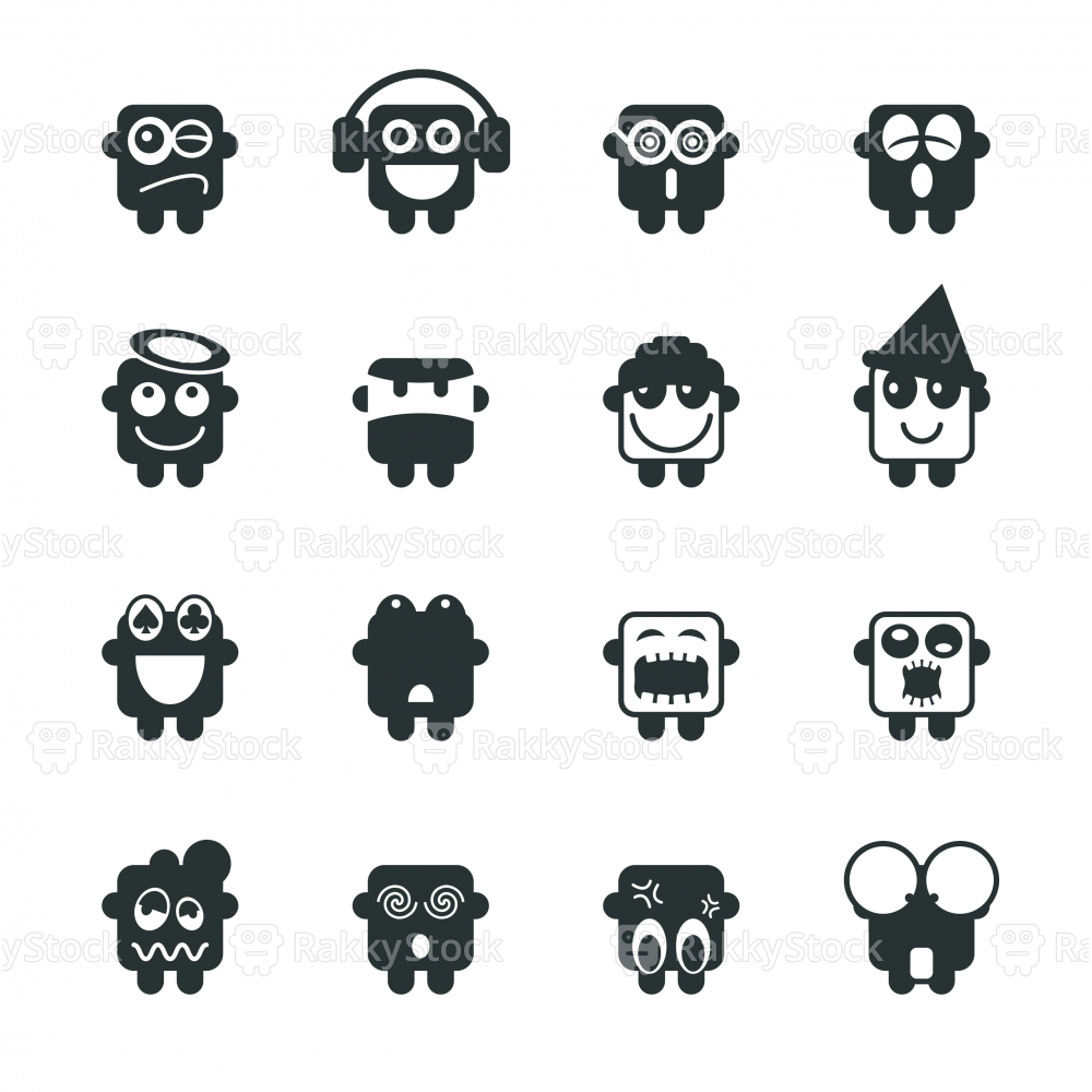 Silhouette Emoticons | Set 3