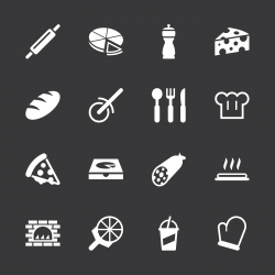 Pizza Icons - White Series