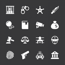 Justice and Law Icons - White Series