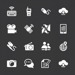 Communication Icons Set 4 - White Series