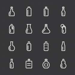 Bottle Icons Set 1 - White Series
