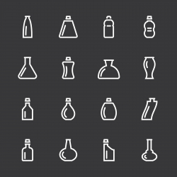 Bottle Icons Set 2 - White Series