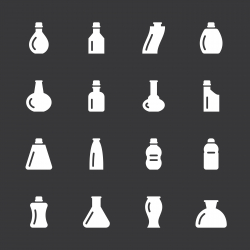 Bottles Icons Set 2 - White Series