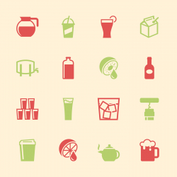 Drink Icons Set 3 - Color Series