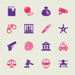 Justice and Law Icons - Color Series