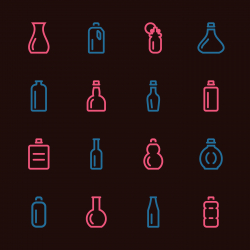 Bottle Icons Set 1 - Color Series