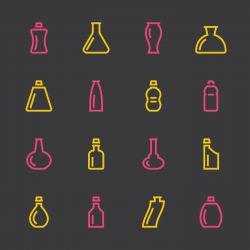 Bottle Icons Set 2 - Color Series
