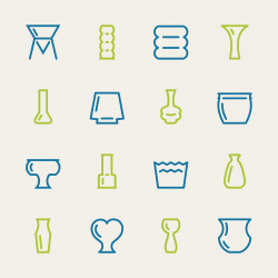 Vase and Pot Icons Set 2 - Color Series
