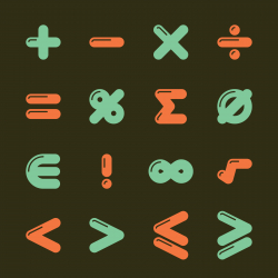Mathematics Icons - Color Series