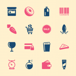 Supermarket Icons Set 2 - Color Series