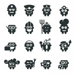 Silhouette Emoticons | Set 4